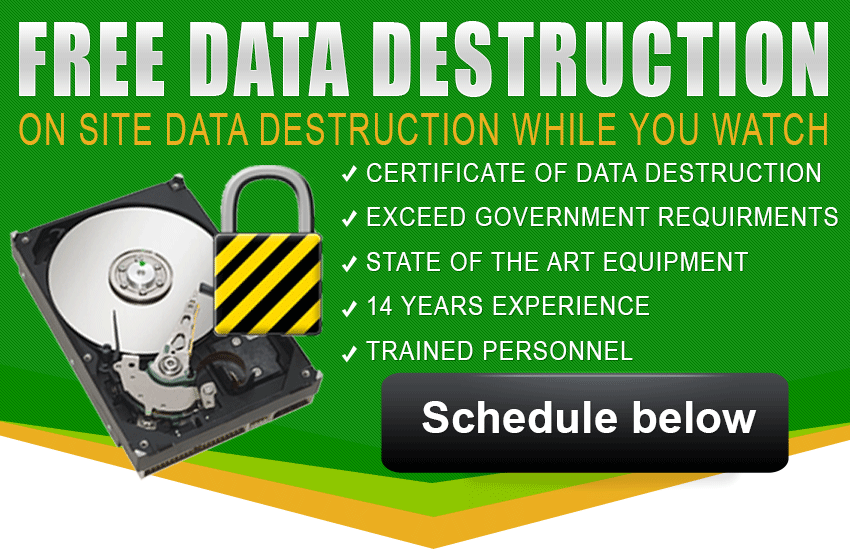 Secure Hard Drive Data Destruction